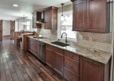 kitchen remodel wood tile